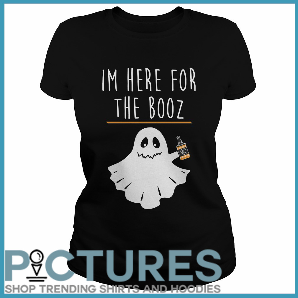 Halloween I'm here for the Booze Ladies tee