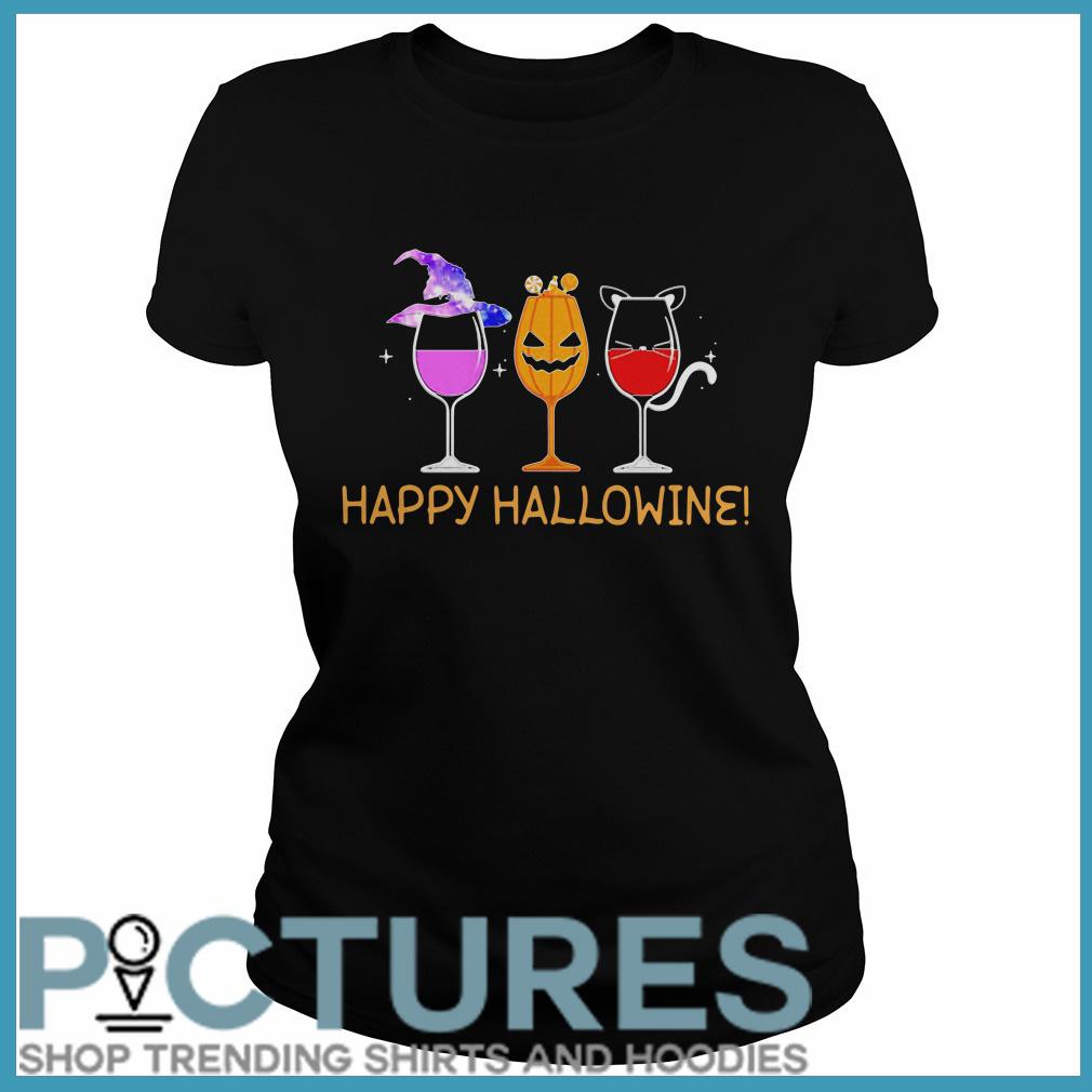 Happy Hallowine Ladies tee