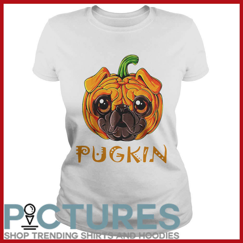 Pugkin Pug Pumpkin shirt 1 Picturestees Clothing - T Shirt Printing on Demand