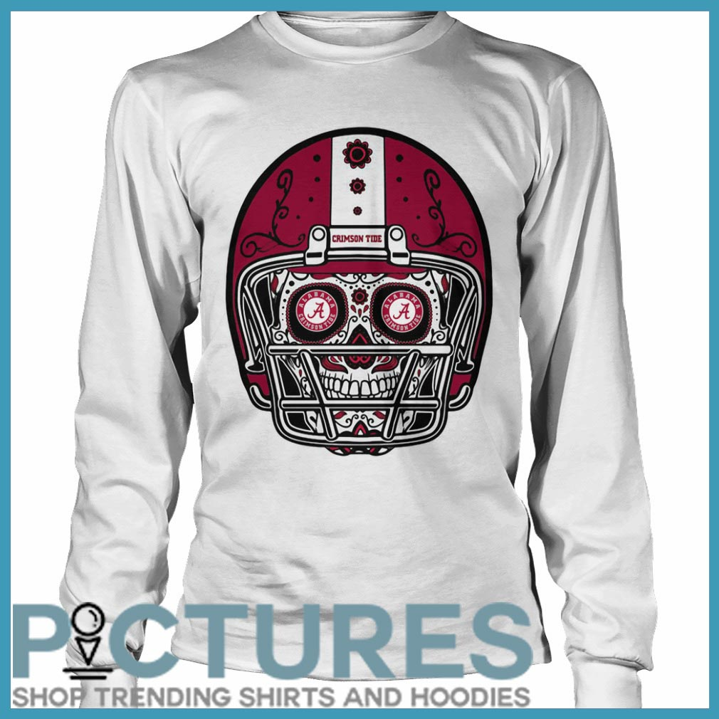 Skull helmet Alabama Crimson Tide Long sleeve