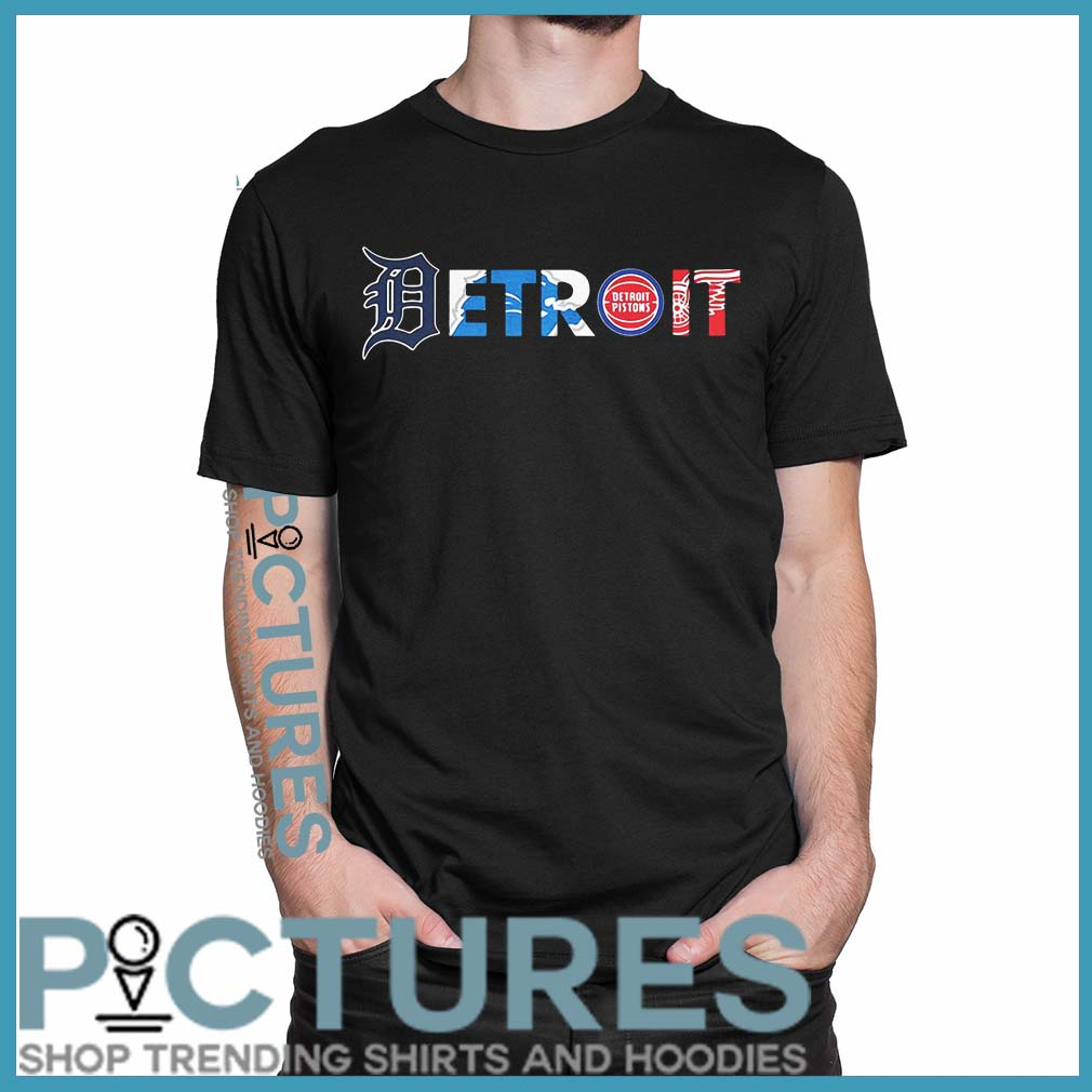 Detroit Pro Team Logos shirt