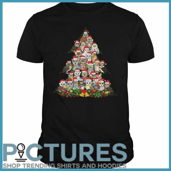 Owl Christmas tree Guys tee