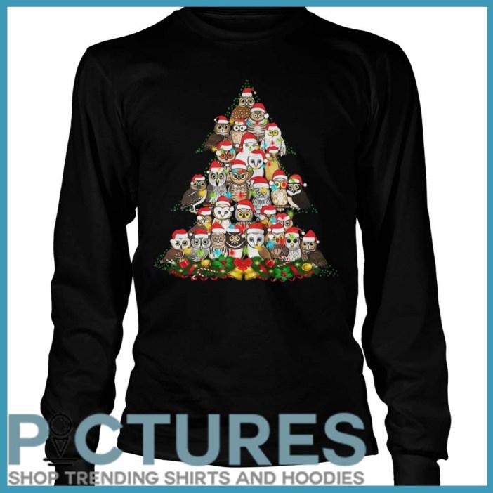 Owl Christmas tree Long sleeve