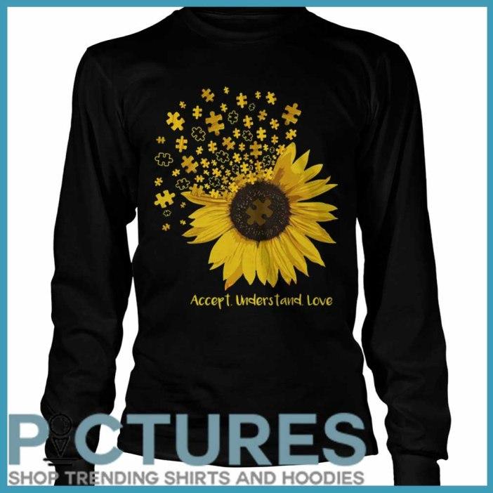 Sunflower Autism accept understand love Long sleeve