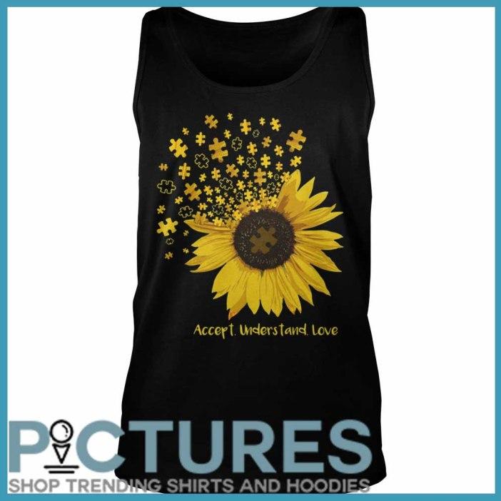 Sunflower Autism accept understand love Tank top