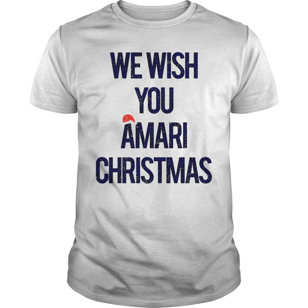 We wish you Amari Christmas guys tee
