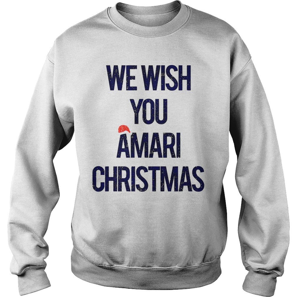 We wish you Amari Christmas sweater