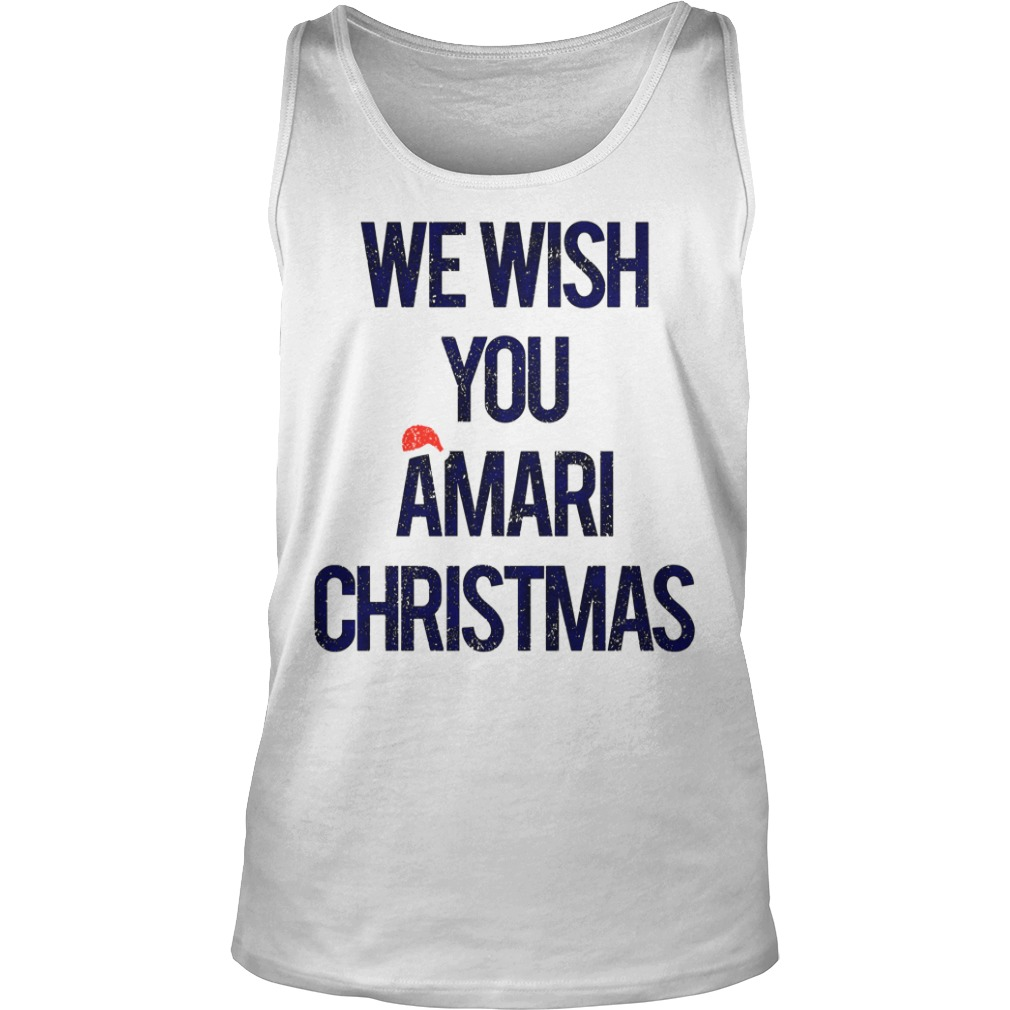 We wish you Amari Christmas tank top