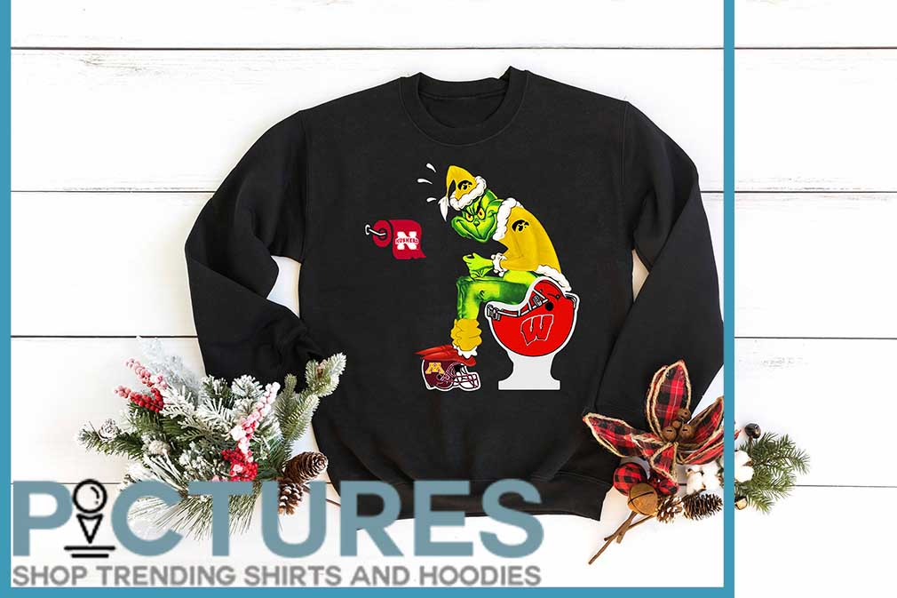 Santa Grinch Iowa Hawkeyes Toilet Shirt