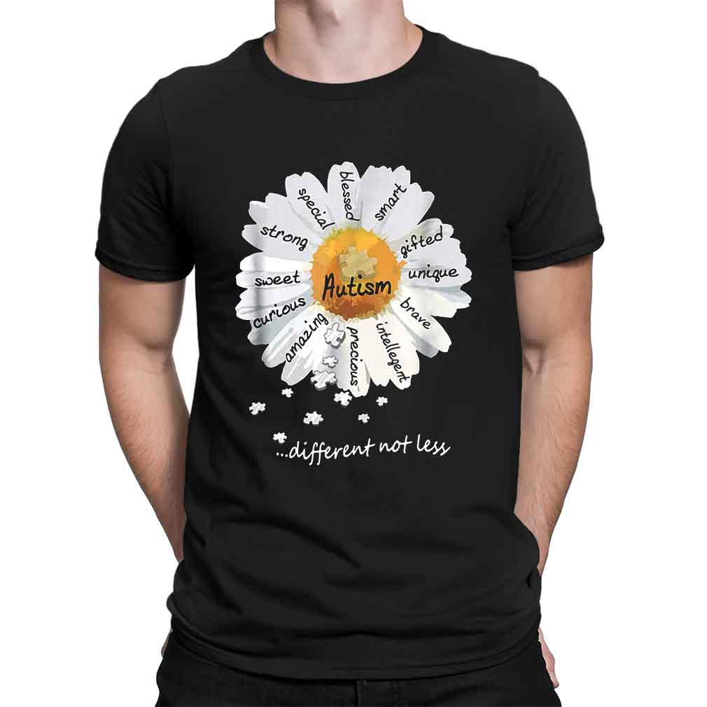 Autism different not less Wild daisies shirt