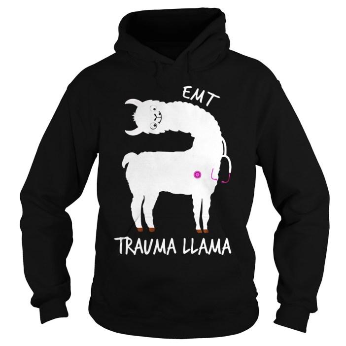 EMT trauma llama hoodie