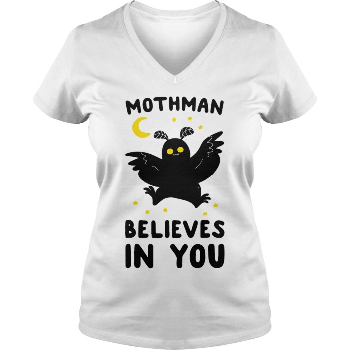 Mothman believes in you v-neck