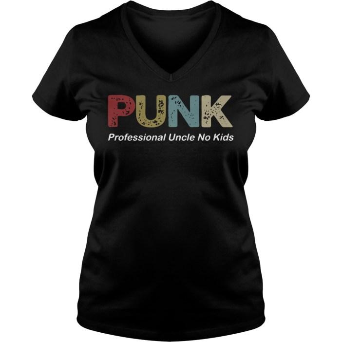 Punk Professional Uncle No Kids v-neck