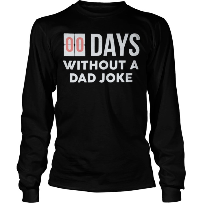 00 days without a Dad Joke sweater