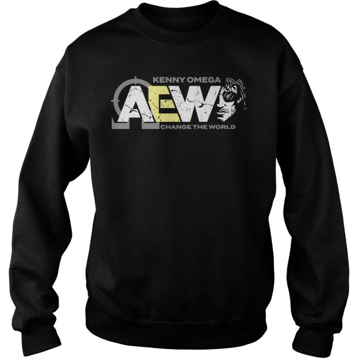 AEW Kenny Omega change the world sweater