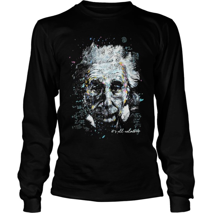 Albert Einstein It's All Relative long sleeve