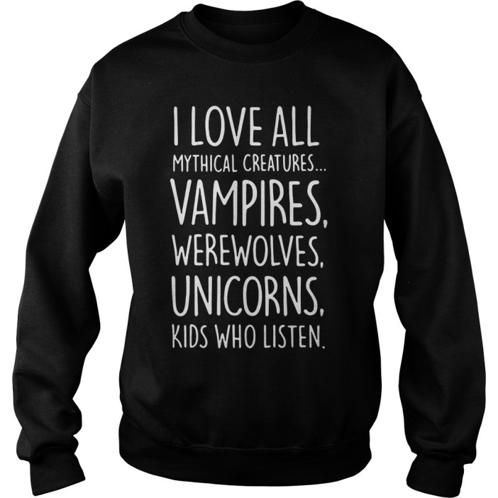 I love all mythical creatures vampires sweater