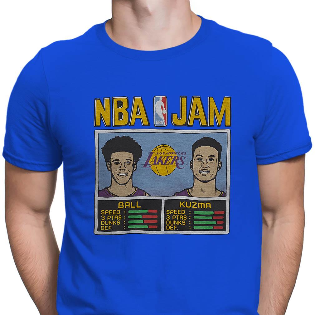 NBA Jam Lakers Ball Kuzma shirt