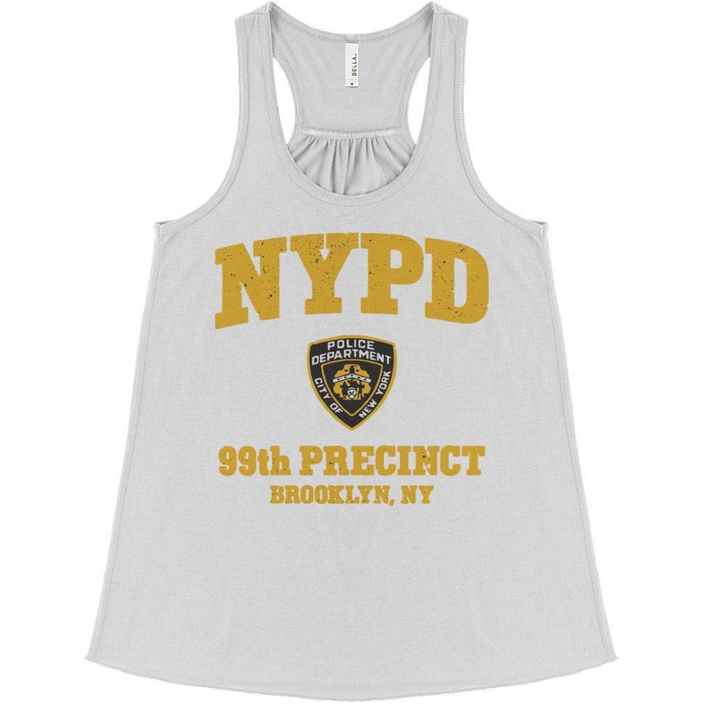 NYPD police department city of New York 99th precinct Brooklyn NY flowy tank