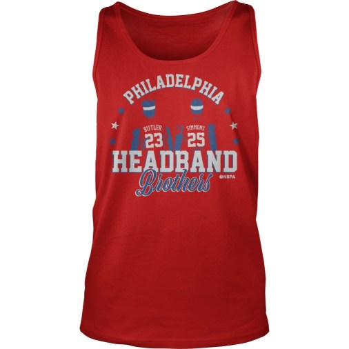 Philadelphia Ben Simmons and Jimmy Butler Headband Brothers tank top
