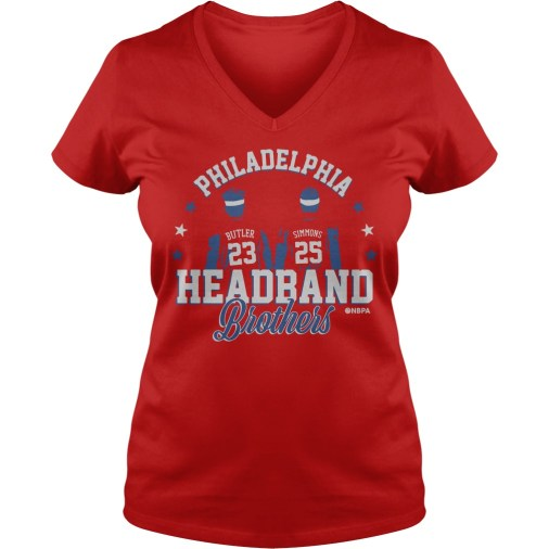 Philadelphia Ben Simmons and Jimmy Butler Headband Brothers v-neck