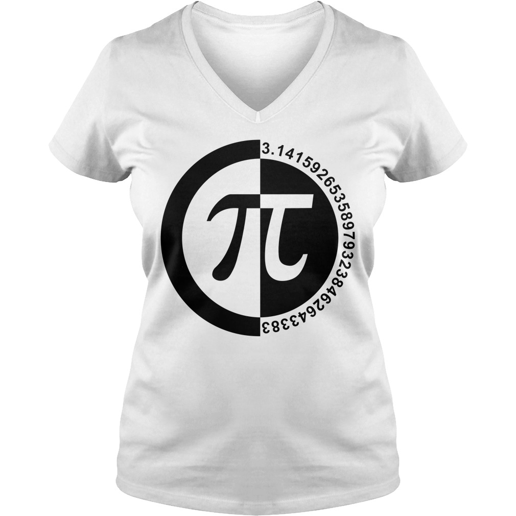 Pi Day number v-neck