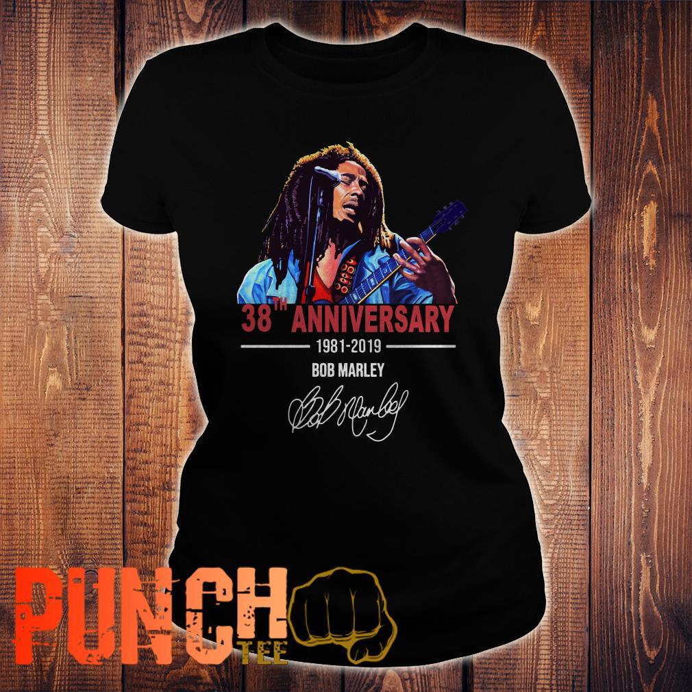 Bob Marley 38th Anniversary 1981 2019 shirt