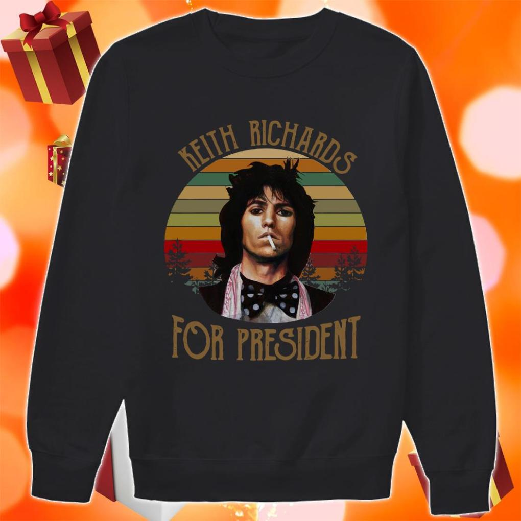 Keith Richards for president vintage sweater