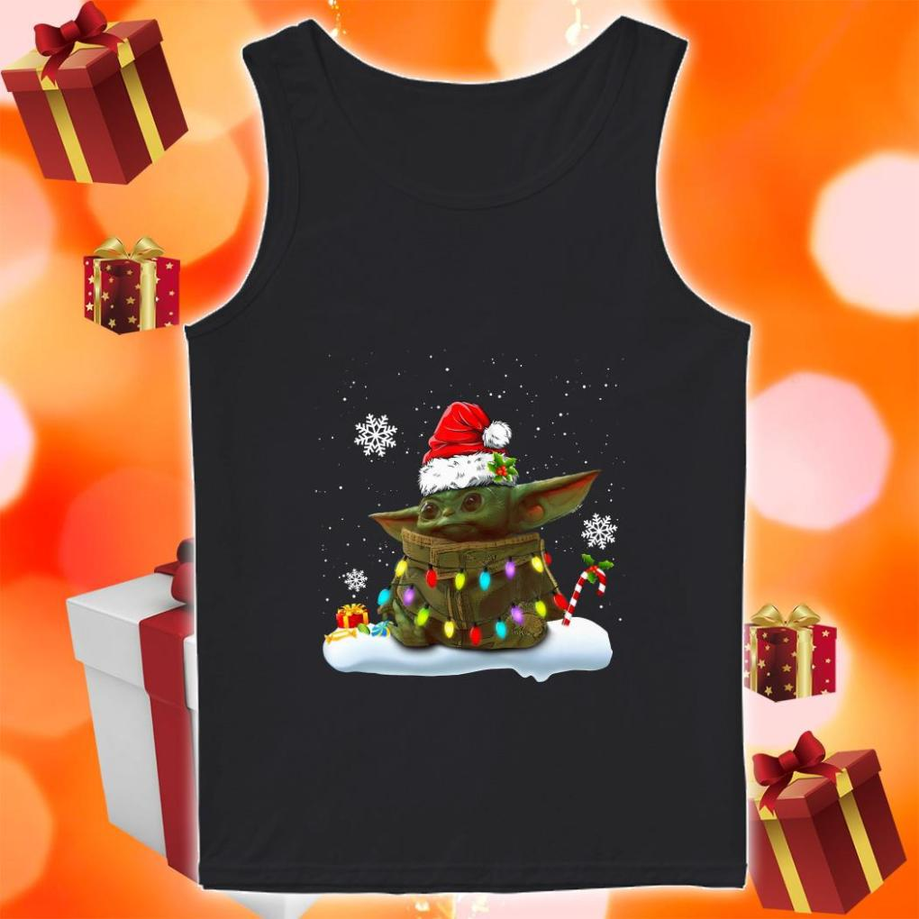 Baby Yoda Merry Christmas tank top