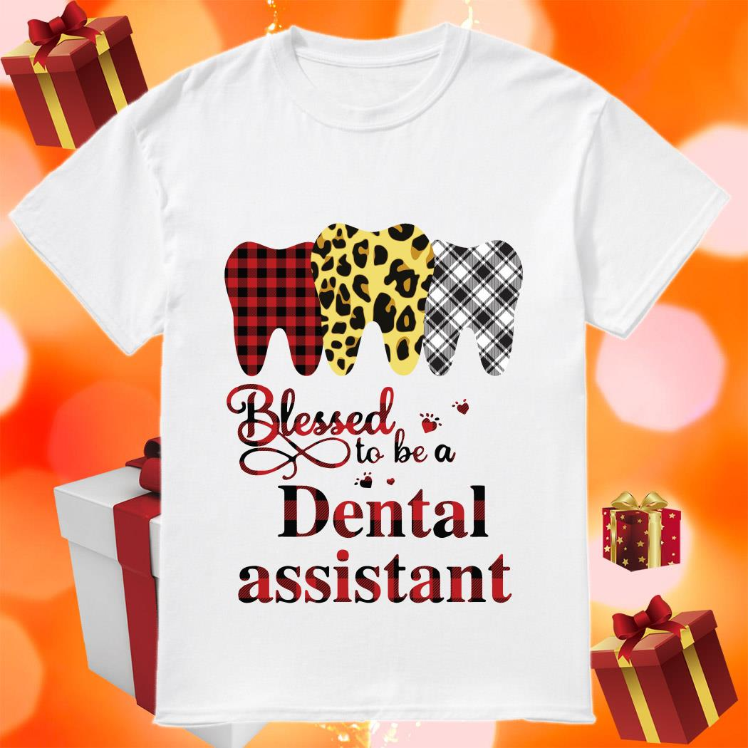 Blessed to be a Dental assistant plaid shirt