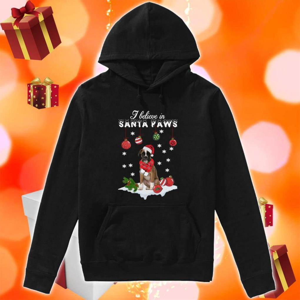 Boxer I believe in Santa Paws Christmas hoodie