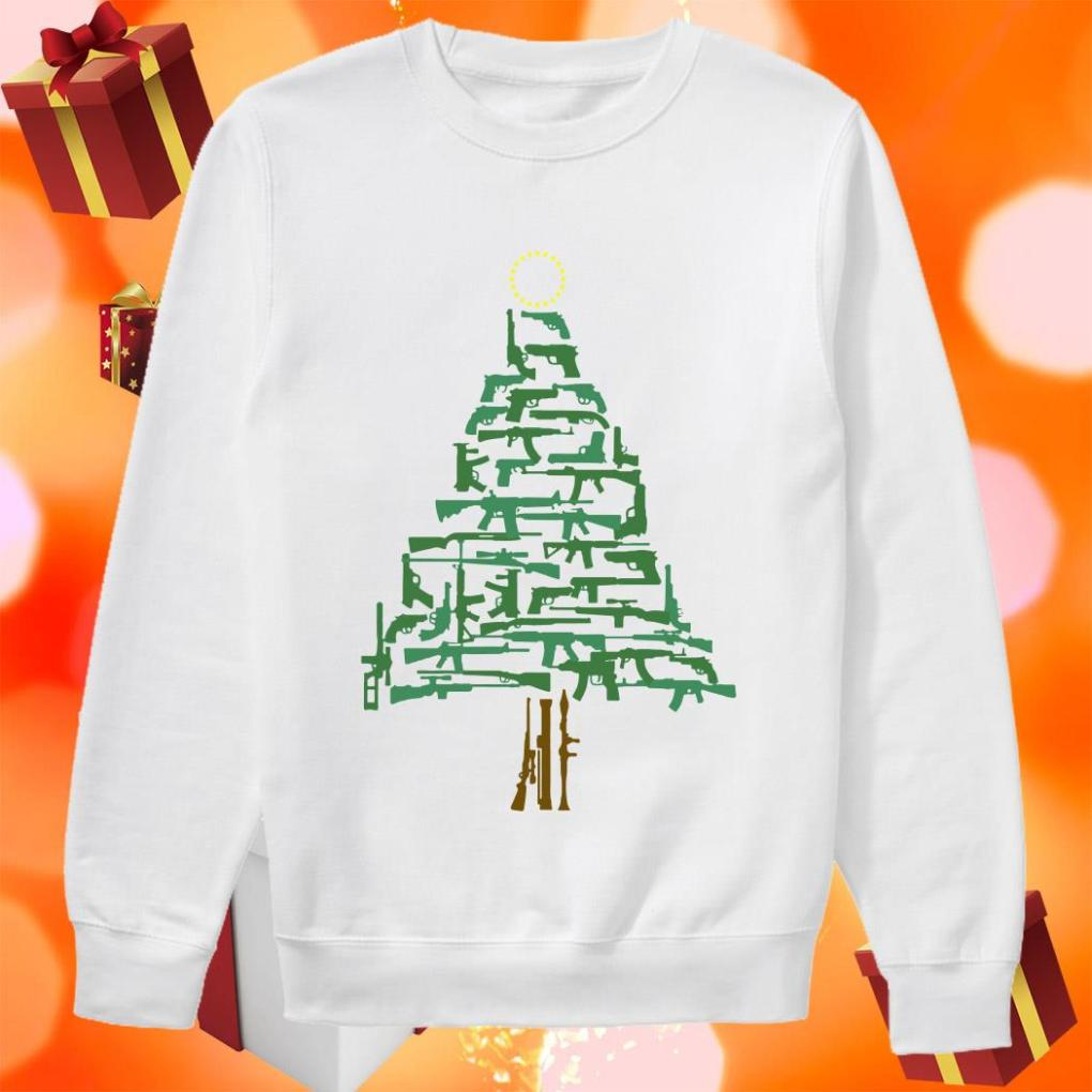 Christmas Tree Green Guns Cook Islands sweater