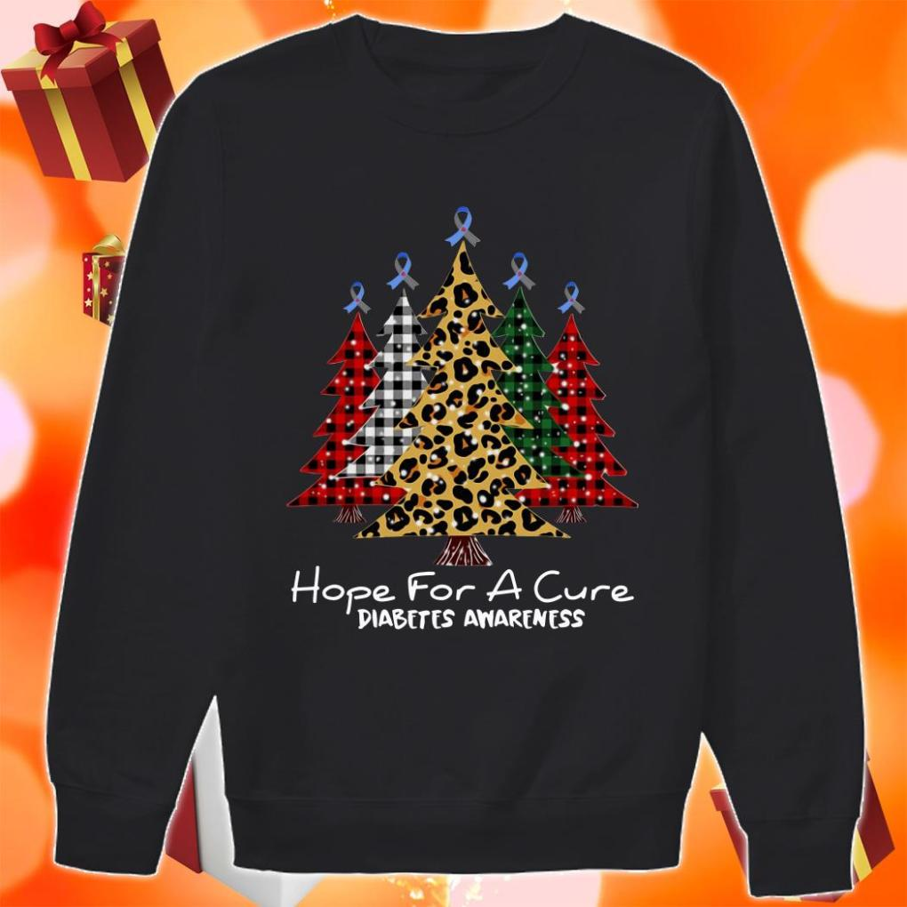 Christmas Tree Plaid Hope for a cure diabetes Awareness sweater