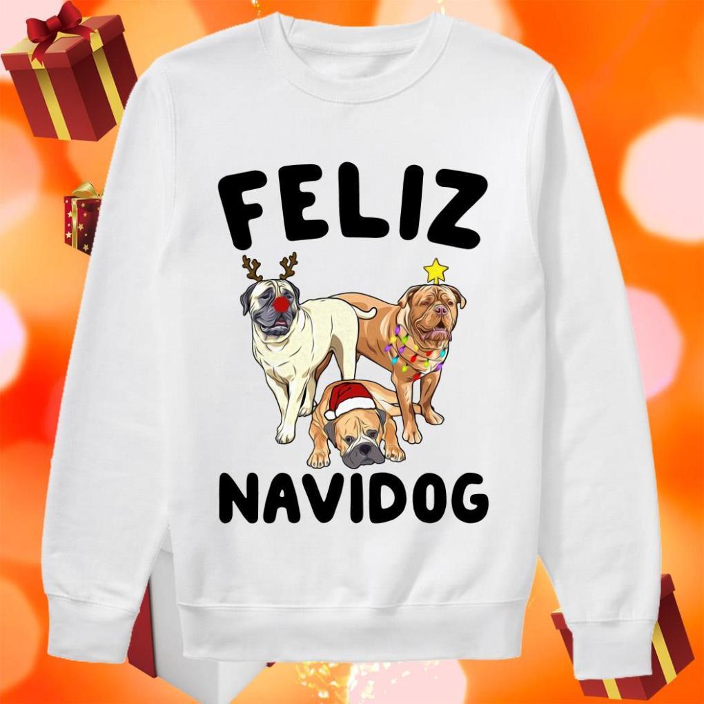 Feliz Navidog Bullmastiff Dog Christmas sweater