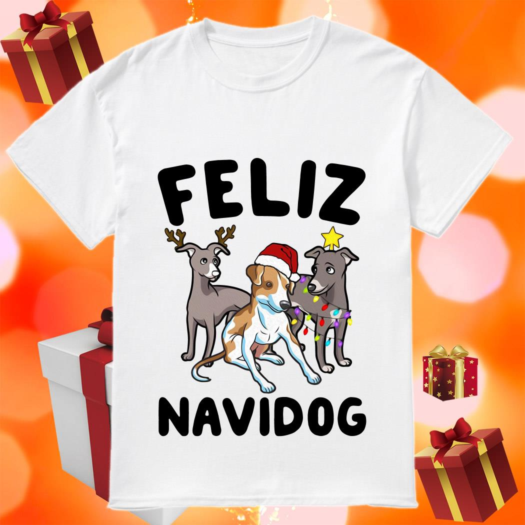 Feliz Navidog Greyhound Christmas Sweatshirt