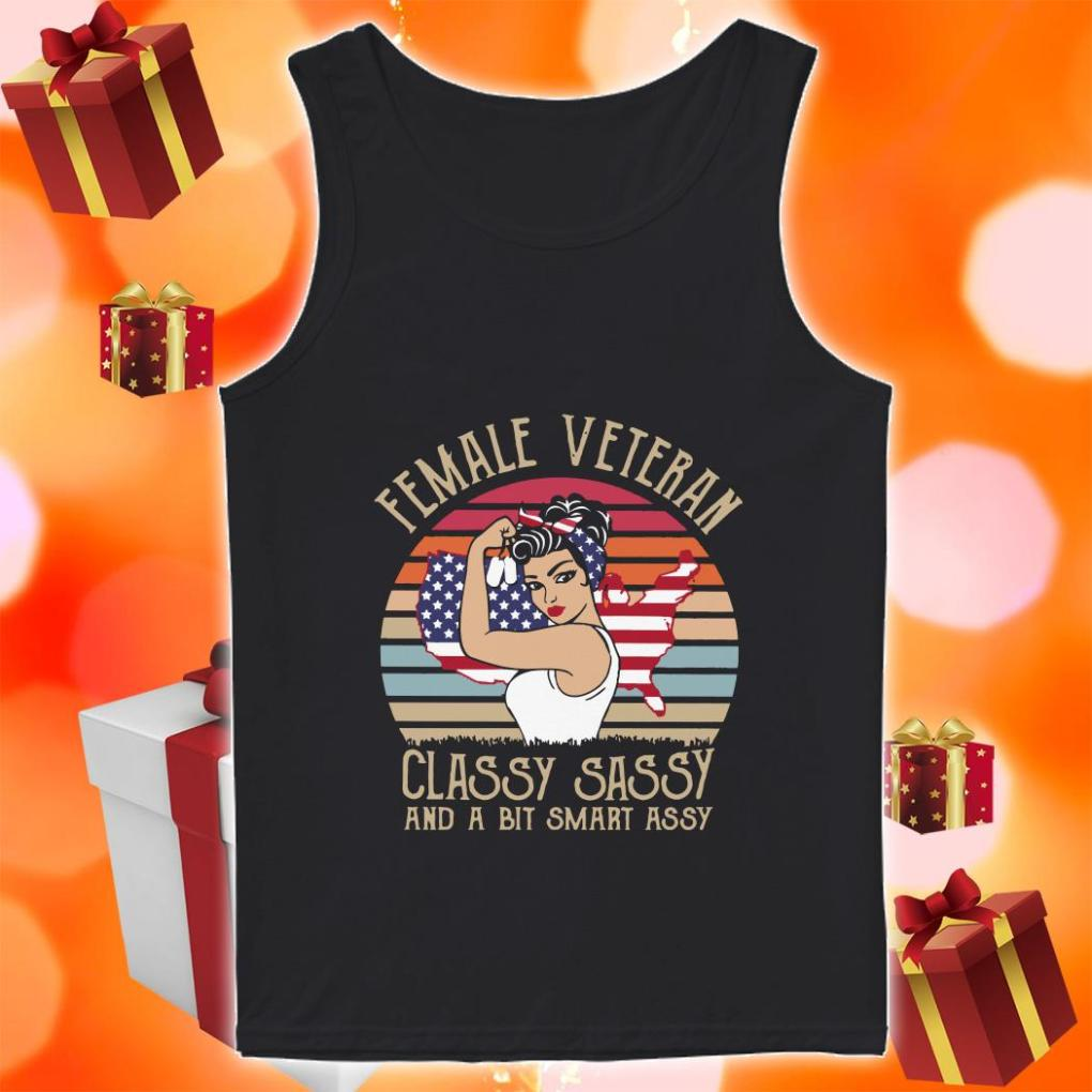 Female Veteran Classy Sassy and a bit smart assy tank top