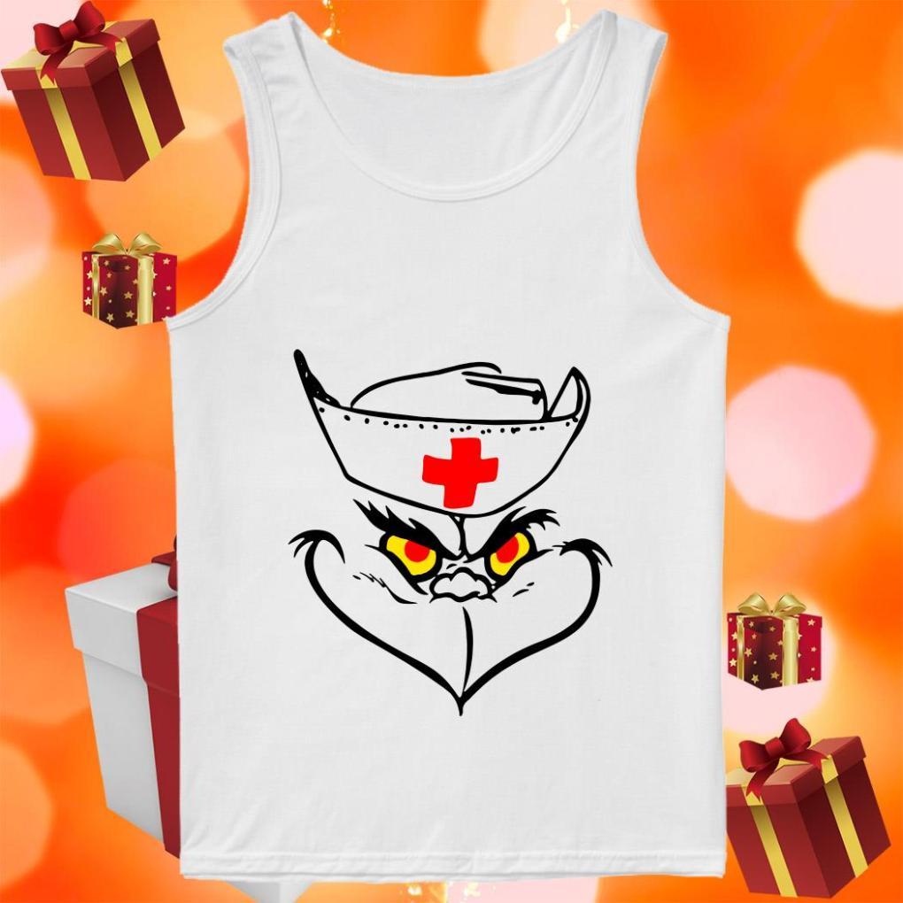 Grinch Nurse funny tank top