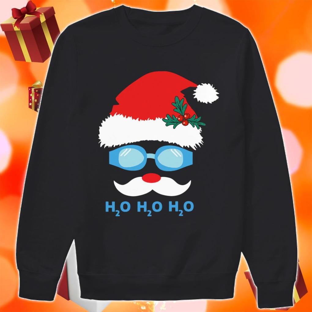 H2O H2O H2O Diving Santa Claus sweater