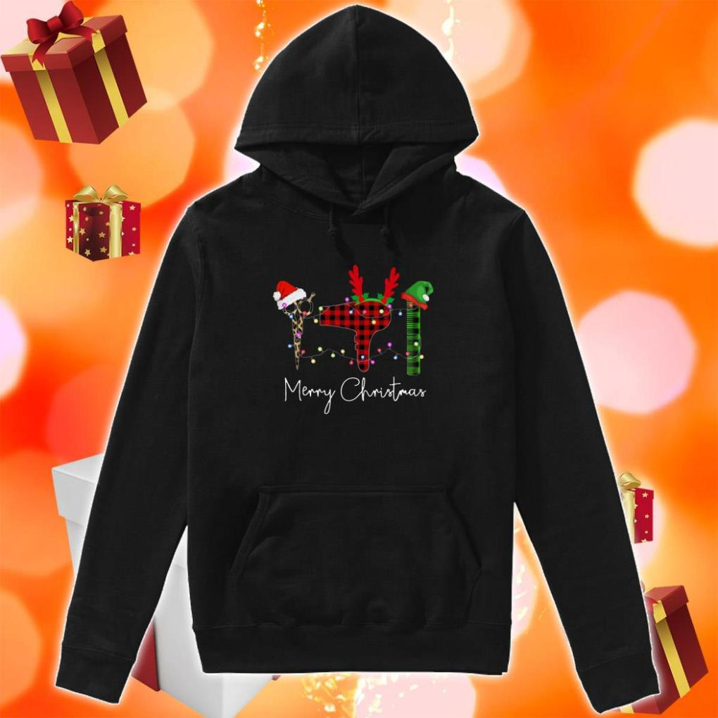 Hair Stylist Merry Christmas hoodie