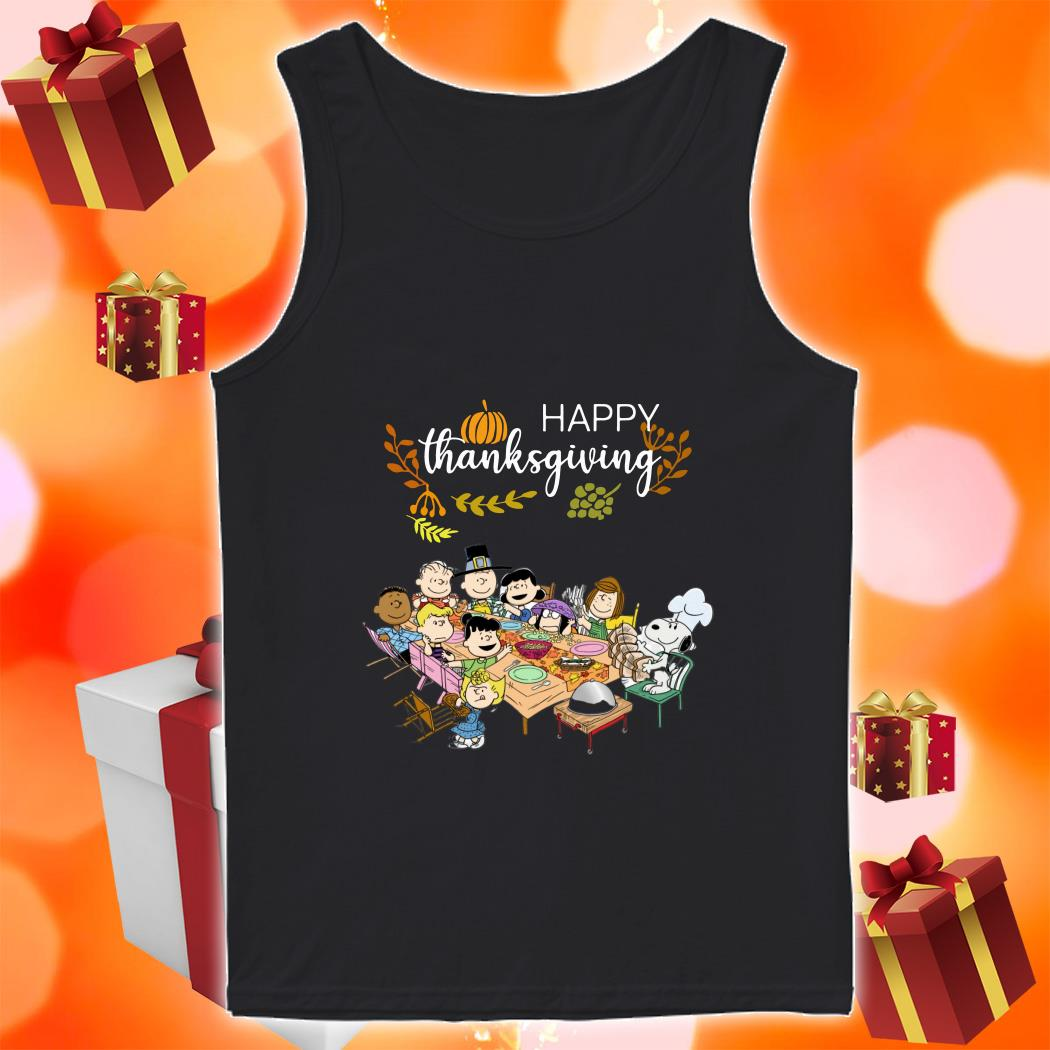 Happy Thanksgiving Peanuts Party tank top