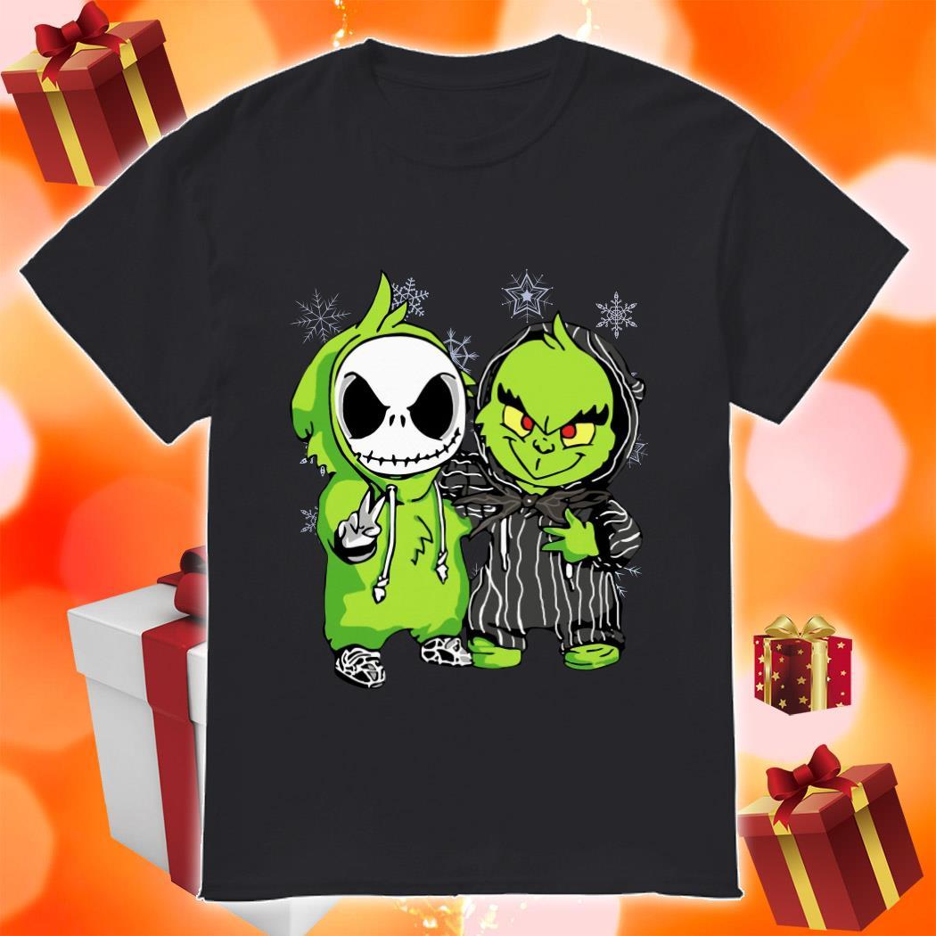 Jack Skellington and Grinch Christmas shirt