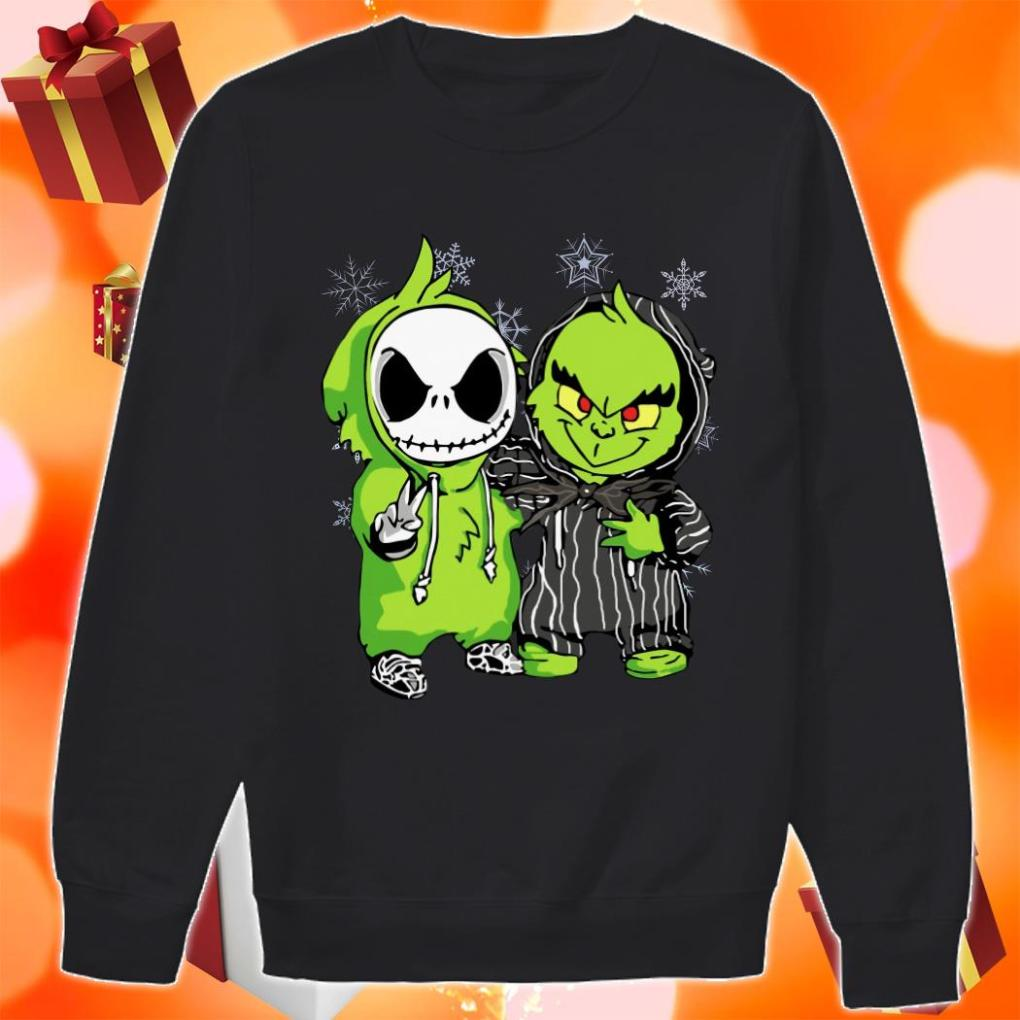 Jack Skellington and Grinch Christmas sweater
