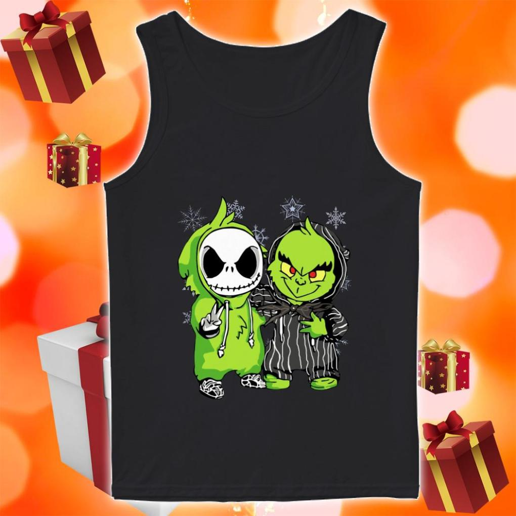 Jack Skellington and Grinch Christmas tank top