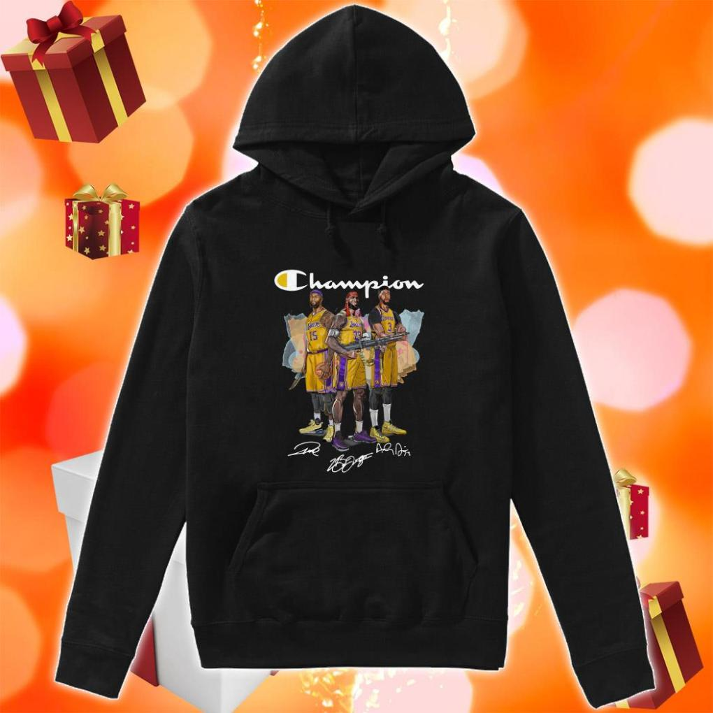 Lebron James Anthony Davis and DeMarcus Cousins Champion hoodie