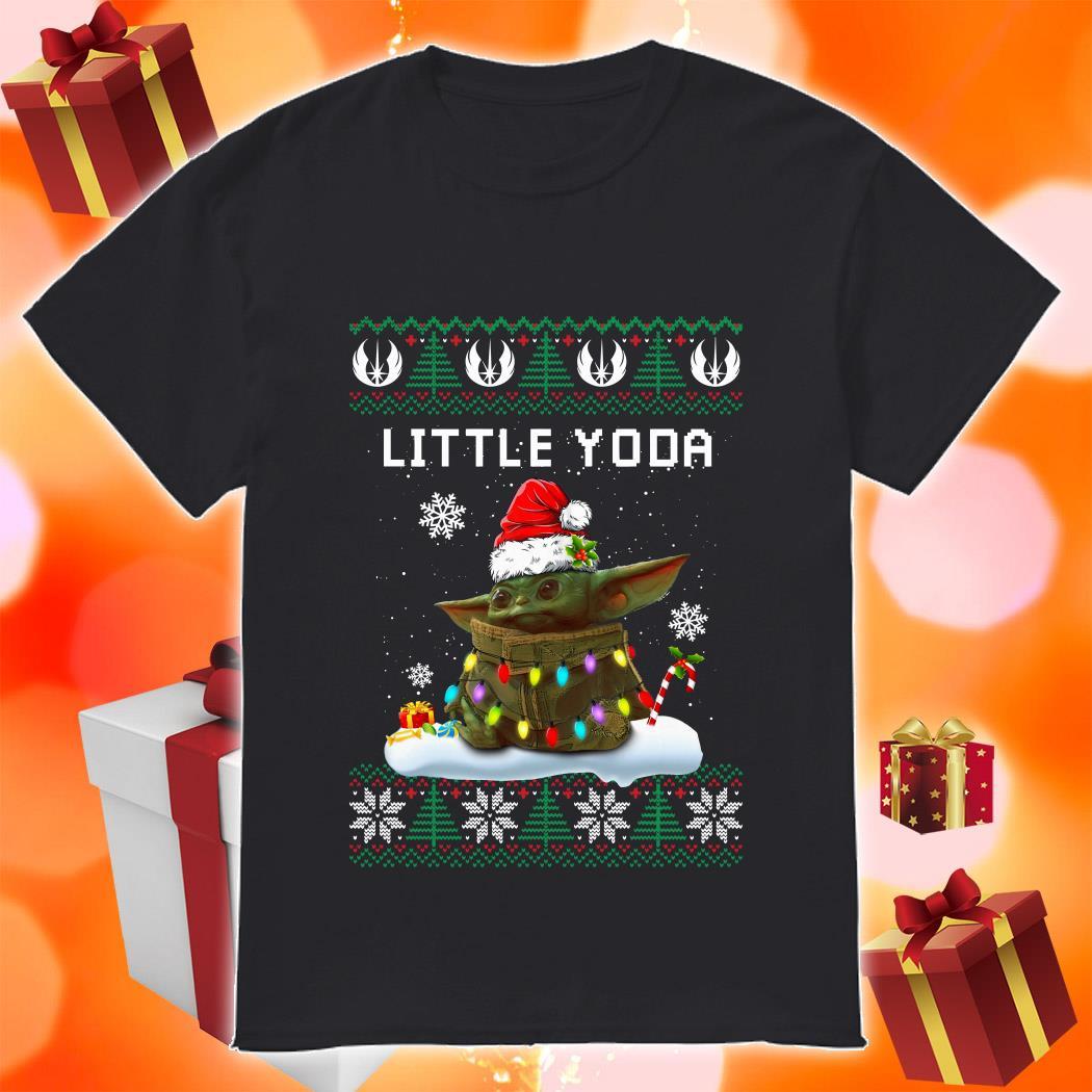 Little Yoda Merry Christmas shirt