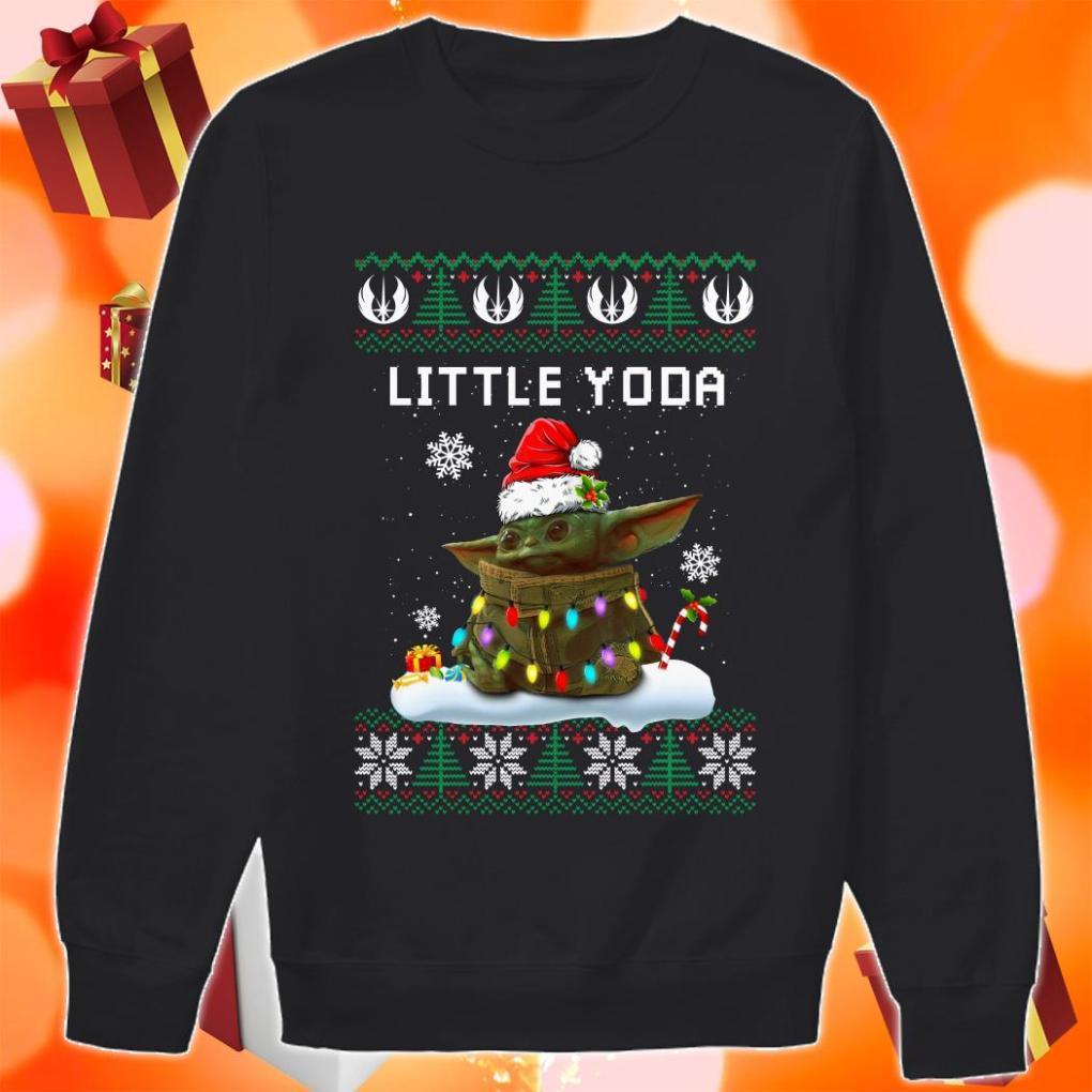 Little Yoda Merry Christmas sweater