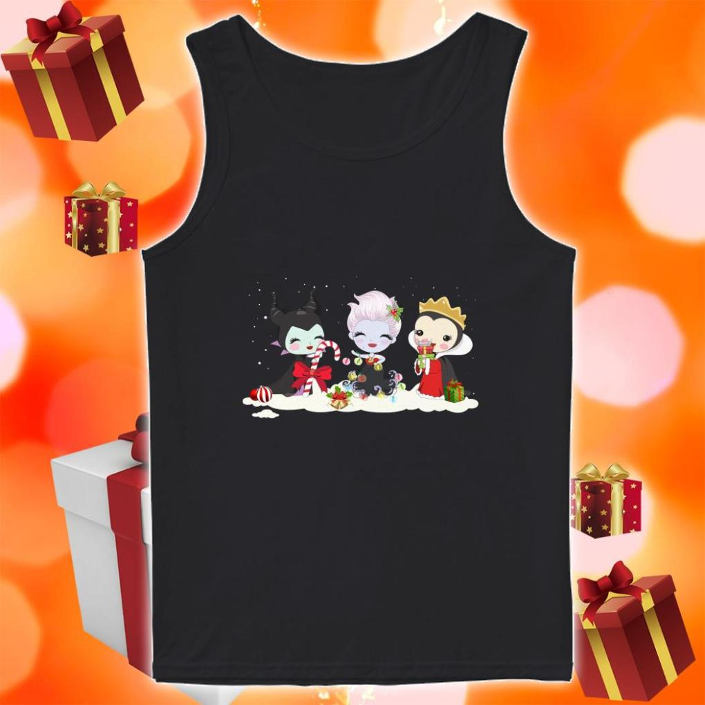 Maleficent and Evil Queen and Ursula Merry Christmas tank top