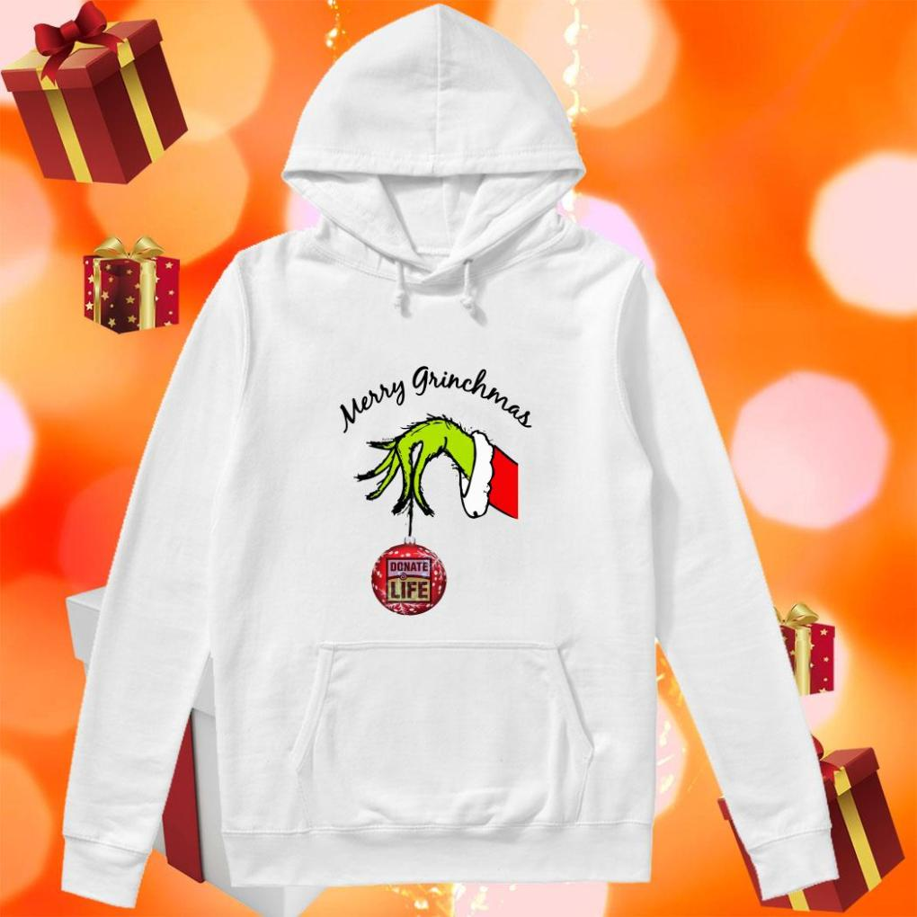 Merry Grinchmas Donate Life hoodie