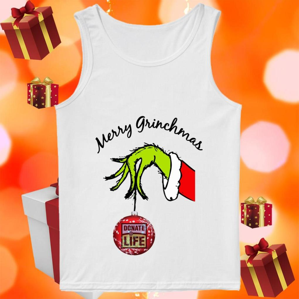 Merry Grinchmas Donate Life tank top