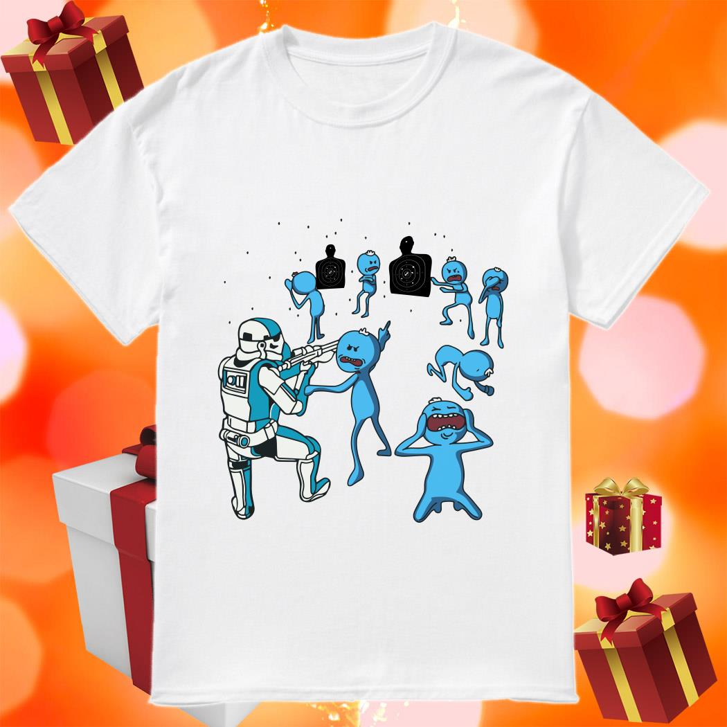 Mr Meeseeks and Stormtrooper shirt